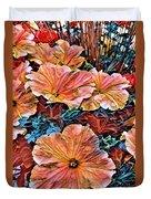 Peanies Flower Blossom Duvet Cover