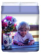 Peanut At 6th Anniversary Va Flaggers 4933 Duvet Cover