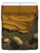 Peanut Butter And Peanuts Duvet Cover