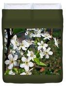 Pear Tree Blossoms Iv Duvet Cover