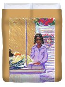 Pearl At The Clothes Press Duvet Cover