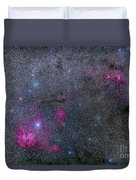 Pearl Cluster And Lambda Centauri Duvet Cover