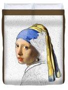 Pearl Earring Digital Art Duvet Cover
