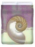 Pearl Nautilus Shell Duvet Cover