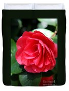 Pearl Of Beauty - Red Camellia Duvet Cover