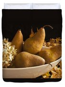 Pears And Hydrangea Still Life  Duvet Cover