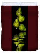 Pears And Its Reflection Duvet Cover