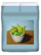 Pears In Bowl 2 Duvet Cover