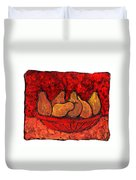 Pears On Fire Duvet Cover