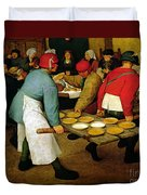 Peasant Wedding Duvet Cover by Pieter the Elder Bruegel