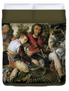 Peasants At The Market Duvet Cover