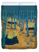 Peasants Gathered In A Sacred Wood_ Duvet Cover