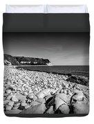 Pebble Beach At Flamborough. Duvet Cover