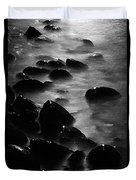 Pebble Beach By Moonlight Duvet Cover