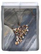 Pebble Beach Rocks 8778 Duvet Cover