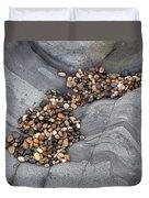 Pebble Beach Rocks 8787 Duvet Cover