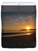 Pebble Beach Sunset Duvet Cover