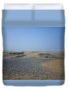 Pebble Strewn Beach Duvet Cover