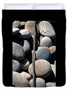 Pebbles And Cable Duvet Cover