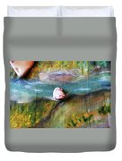 Pebbles At  The Stream Duvet Cover by Augusta Stylianou