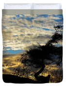 Pebbles Beach Pine Tree Duvet Cover