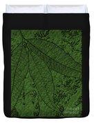 Pecan Tree Leaves Duvet Cover