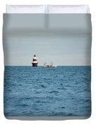 Peck Ledge Lighthouse Duvet Cover