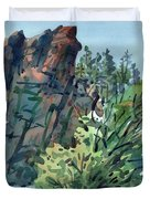 Pecos Canyon Duvet Cover