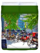 Pedal Taxis 1 Duvet Cover