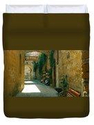 Pedestrian Walkway, Orvieto, Umbria Duvet Cover
