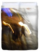 Pedestrians 4  6th Ave Series  Abstract Duvet Cover