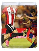 Pedro Rodriguez Kicks The Ball  Duvet Cover