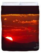 Peek-a-boo Sun Duvet Cover