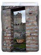 Peek Into The Past - Pompeii Duvet Cover