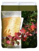 Peeling Bark Of White Birch Tree Duvet Cover