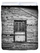Peeling Wall And Cool Window At Fort Delaware On Film Duvet Cover