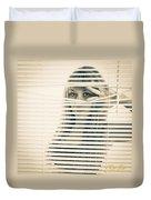 Peeping Alex Duvet Cover