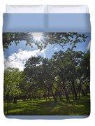 Peeping Sun Duvet Cover