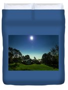 Pegasus And Moon Over The Shenandoah Valley Duvet Cover