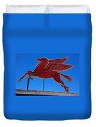 Pegasus Oil Sign Duvet Cover