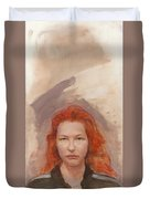 Peggy Is Fire Duvet Cover