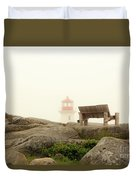 Peggy's Cove Lighthouse And The Banch Duvet Cover