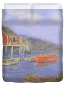 Peggy's Cove Lobster Pots Duvet Cover