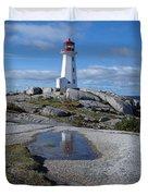 Peggys Cove Nova Scotia Canada Duvet Cover