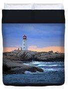 Peggy's Point Lighthouse, Nova Scotia, Canada Duvet Cover