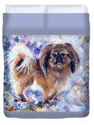 Pekingese Duvet Cover