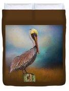 Pelican Blues Duvet Cover