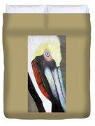 Pelican Closeup 2 Duvet Cover