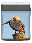 Pelican Feathers Duvet Cover