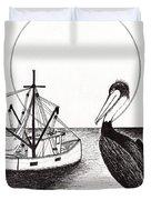 Pelican Fishing Paradise C1 Duvet Cover